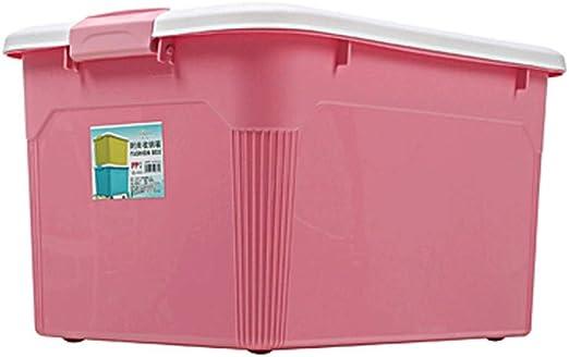 DaFei Caja de Almacenamiento con Tapa, Ligera, Robusta, apilable, múltiples Colores, plástico, Grande, hermética, con Caja de contenedor con asa: Amazon.es: Juguetes y juegos