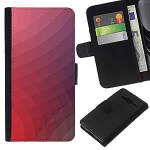 Stuss Case / Funda Carcasa PU de Cuero - Neon Pink Remolinos - Samsung Galaxy Core Prime