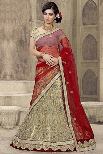 Da Facioun Indian Women Designer Wedding BEIGE Lehenga Choli R-16079