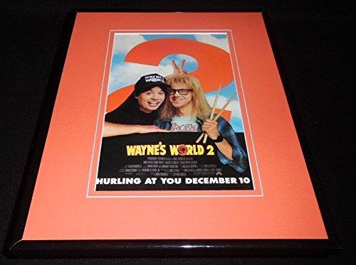 Wayne's World 2 1994 11x14 Framed ORIGINAL Vintage Advertisement Mike Myers