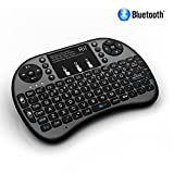 Rii i8+ BT Mini Wireless Bluetooth Backlight Touchpad Keyboard with Mouse for PC/Mac/Android, Black (RTi8BT-5)