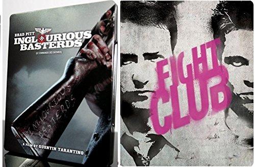 Brad Pitt Steelbook Fight Club & Inglorious Basterds [Blu-ray] Bundle Double feature Set