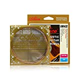 #8: HaloVa Acoustic Guitar Strings, Folk Guitar Plated Steel with Proprietary Anti-rust Coating, Best Quality with Superior Performance, Ideal for Folk Music, Light