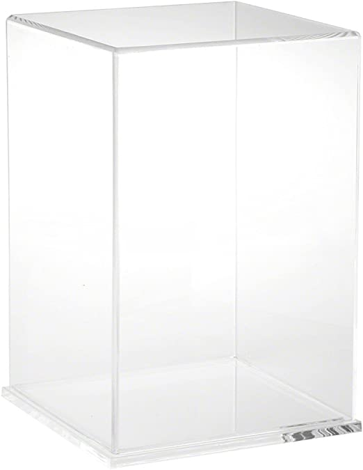 """Plymor Clear Acrylic Display Case with Hardwood Base 20/"""" W x 12/"""" D x 9/"""" H"""