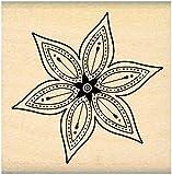 Florilèges Design FD109079 Tampon Scrapbooking Petite Fleur Star Beige 5 x 5 x 2,5 cm