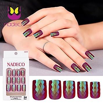 Amazon.com: Urberry Juego de 24 uñas postizas diseño de ...