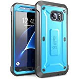 Galaxy S7 Case, SUPCASE Full-body Rugged Holster Case with Built-in Screen Protector for Samsung Galaxy S7 (2016 Release), Unicorn Beetle PRO Series - Retail Package (Blue/Black)