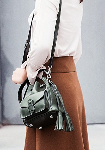 Minotta MinottaUKD6039 de Mujer Sintético de mano elegante Verde bolso qOHOc7