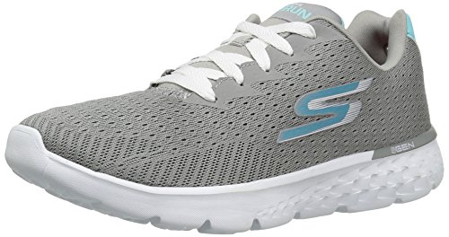 Skechers Performance Women's Go Run 400 Sole Running Shoe,Gray/Blue,6.5 M - 400 Us