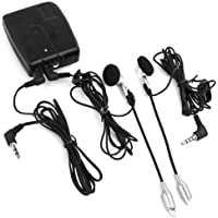 abcGoodefg Helmet to Helmet, Rider to Rider/Passenger Motorcycle Intercom Communication System Two Way Radio - Connect to MP3/iPod/iTouch/Nano/CD Audio Devices