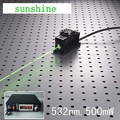 Induustrial Lab Laser 532nm 500mW Green Laser Dot Module + Analog 0-30KHZ + TEC Cooling 85-265V + Lab Adjustable Digital Power Supply LSR-PS-II