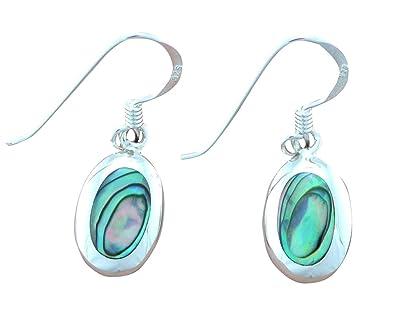 330108e98 Abalone Paua Shell & 925 Sterling Silver Earrings: Amazon.co.uk ...