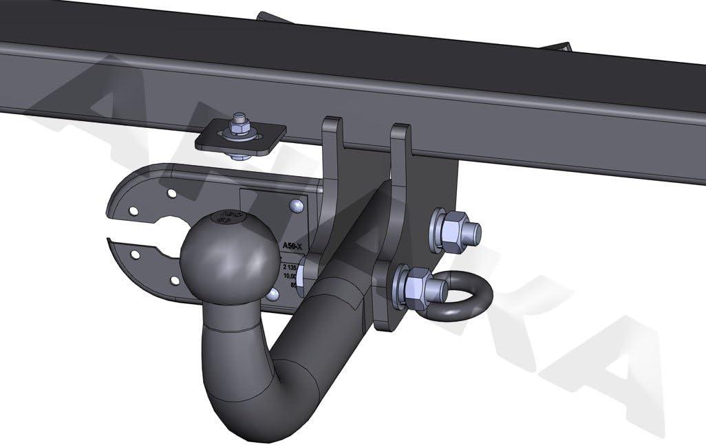 /SOSPENSIONE dal modello angeschraubtem testa a sfera Gancio traino traino con elettrico set 7/poli per Subaru Forester 1999/ /2008/gancio di traino/