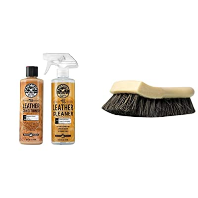 Chemical Guys Leather Cleaner and Conditioner Leather Care Kit