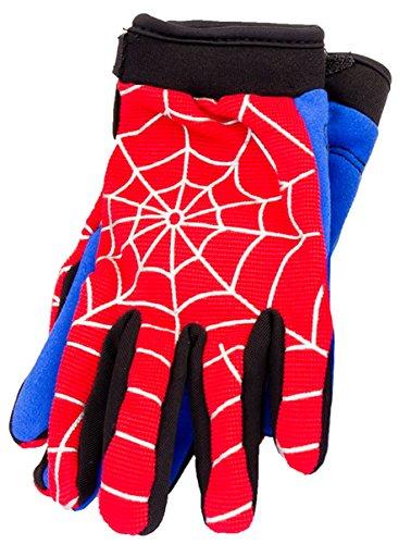 Typhoon Youth Kids Motocross Motorcycle ATV Dirt Bike Gloves - Blue Red Spiderman - - Kids Typhoon