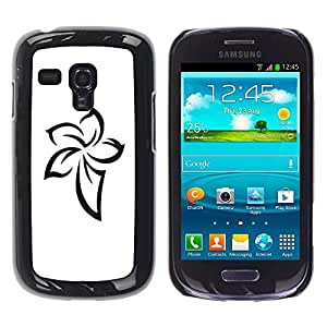 Exotic-Star ( Pattern Celtic Ink Tattoo White ) Fundas Cover Cubre Hard Case Cover para Samsung Galaxy S3 III MINI (NOT REGULAR!) / I8190 / I8190N