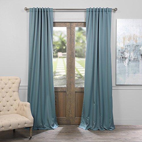HPD HALF PRICE DRAPES BOCH-184417-96 Room Darkening Curtain 50 x 96 Dragonfly Teal 1 Panel ()