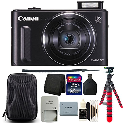 Canon PowerShot SX610 HS 20.2MP Wifi / NFC Enabled 18X Optical Zoom Point and Shoot Digital Camera + Accessories
