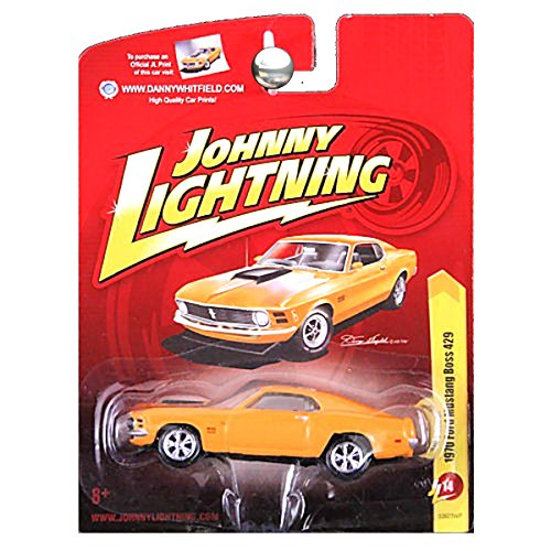 - Johnny Lightning 1970 Ford Mustang Boss 429 Grabber Orange Yellow