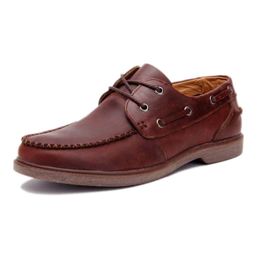 HWG-GAOYZ Schuhe Herren Martin Stiefel Retro Persönlichkeit Outdoor Lederwaren Lederschuhe Herbst Und Winter,Dark-braun-38