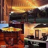 LED G40 Outdoor String Lights 25Feet Patio Lights