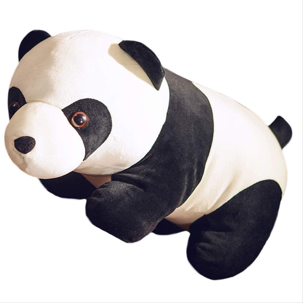 hhjxptst Juguete De Felpa, Panda Blanco Y Negro, Lanzamiento De Felpa, Almohada, Ultra-Suave, Cómodo, Relleno, Regalo para Los Niños Terciopelo elástico 35 cm