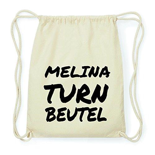 JOllify MELINA Hipster Turnbeutel Tasche Rucksack aus Baumwolle - Farbe: natur Design: Turnbeutel