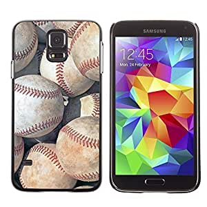 Baseball Theme Sports Design Hard Case Cover for Samsung Galaxy S5 BY TOBETO