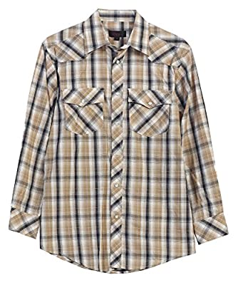 Gioberti Men's Western Plaid Long Sleeve Shirt