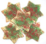 Scotts Cakes Red and Green Christmas Star Cookies 1 lb. Box