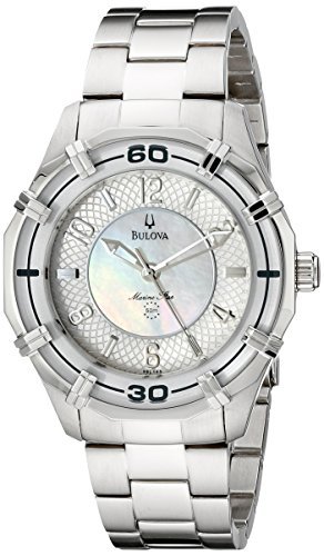 Bulova Women's 96L145 Solano Marine Star Mother of Pearl Watch (Mother Of Pearl Womans Watch)