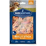 Barkworthies Protein Rich Bully Stick Bites - All Natural Rawhide Alternative - Highly Digestible Dog Treat - Promotes Dental Health - (10oz)