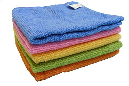 BEST Soft Microfiber Cleaning & Drying Cloths Towels (Set of 4+1 Bonus)