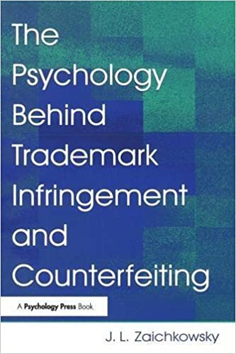 The Psychology Behind Trademark Infringement and Counterfeiting by J. L. Zaichkowsky (2006-06-06)
