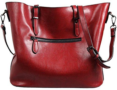 Leather red Bags Women Bag Tote SQLP Red Ladies Handbags Shoulder 2017 qanxwx7HP