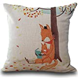 GOVOW Fox Print Princess Castle Play Tent with Glow in The Dark Stars Decorative Pillow Case Cushion Cover