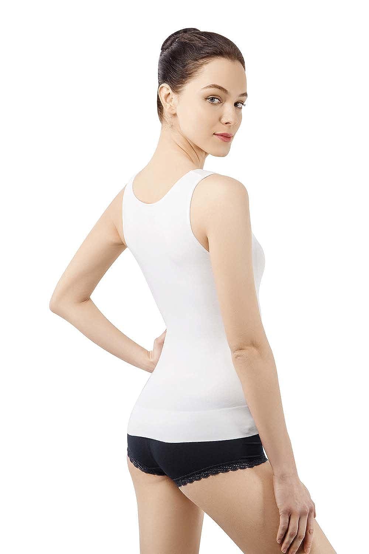 MD Damen Unterhemd figurformendes Seamless Top Hemd Shapewear f/ür Bauch und Taille