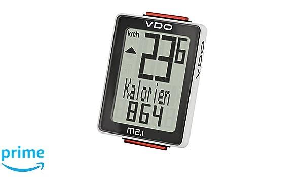 VDO M2.1WL Radio controlada Ciclocomputador veloc/ímetro de bicicleta