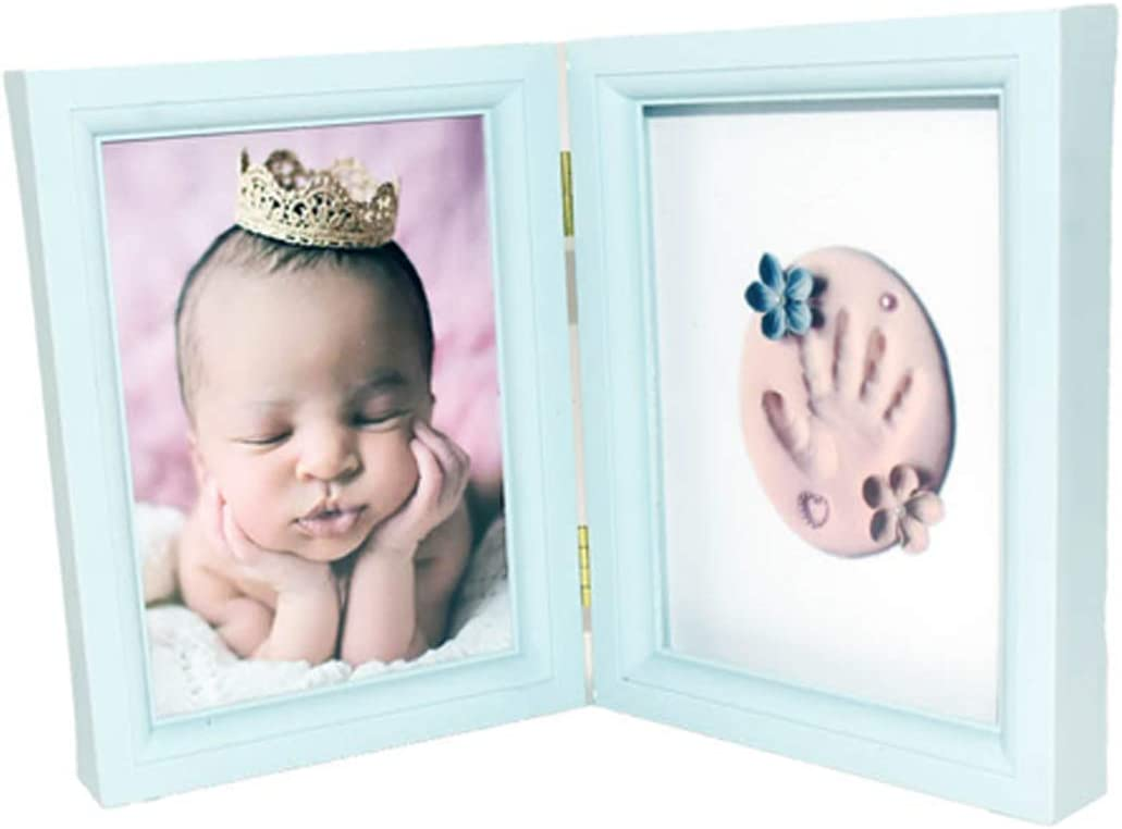 Marco Handprints Bebe Color Rosa Marco Portafotos de Huellas para beb/é Recien Nacido Plegable con Arcilla Premium Segura para Huella incluida Cisne 2013 Rosa. S.L