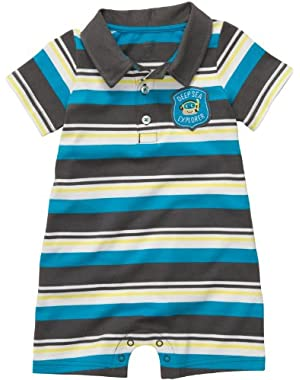 Carter's Boys Deep Sea Explorer Polo-style Romper (NB-24M) (Newborn)