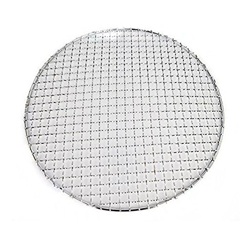 Carbon Steel Round Wire - Loghot Multi-Purpose Stainless Steel Round Cross Wire Round Steaming Cooling Barbecue Racks/Grills/Pan Grate/Carbon Baking Net (Diameter-11.5 inches)