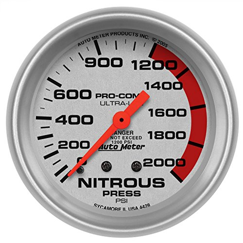 Auto Meter 4428 Ultra-Lite Mechanical Nitrous Pressure Gauge