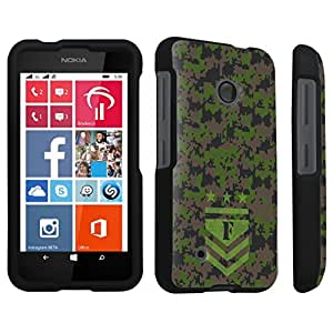 DuroCase ? Nokia Lumia 530 Hard Case Black - (Army Camo Monogram F)