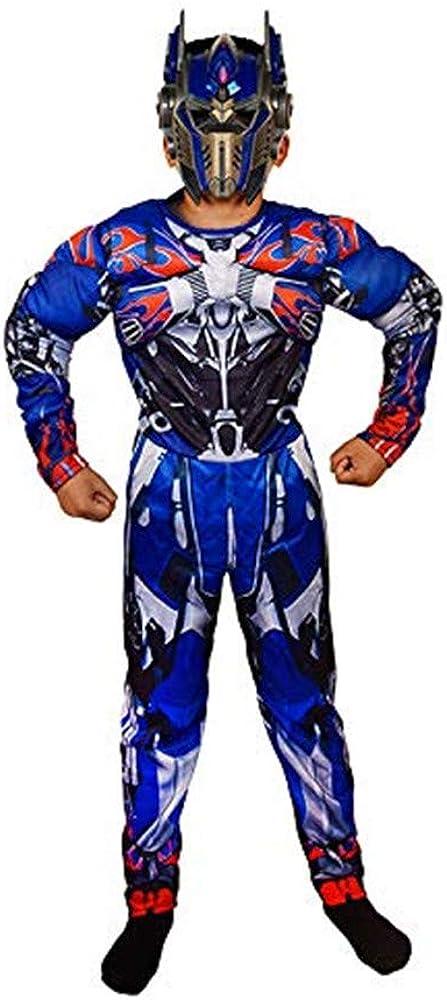 Disfraz Transformers Halloween Navidad Niño Optimus Prime Cosplay Costume con Máscara