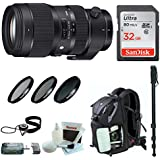 Sigma 50-100mm f/1.8 DC HSM Art Lens for Canon Mounts + Sony 32GB Memory Card + Memory Card Reader + 82mm Filter Kit + Backpack +Acessory Bundle