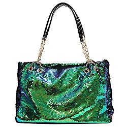 Two Tone Reversible Sequin Tote