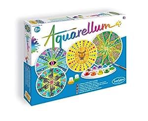 Fun Frag 676  - Aquarellum mandalas África, páginas para colorear para colorear juego de 4
