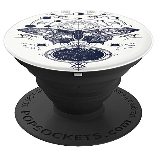 (Mystical Occult Mystic Skulls Spooky Witchcraft Goth Wiccan - PopSockets Grip and Stand for Phones and)