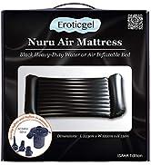 Eroticgel Nuru Inflatable Massage Air Mattress with Electric Pump 223 x 122 x 15cm - Black PVC Ho...