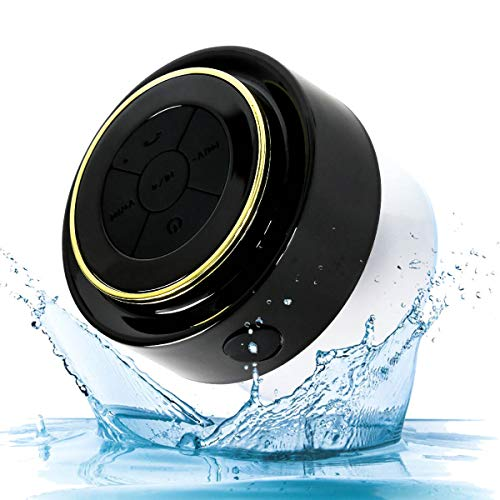 Kondor F012 Bluetooth Shower Speaker – Certified Waterproof – Wireless It Pairs Easily to All Your Bluetooth Devices – Phones, Tablets, Computer, Radio